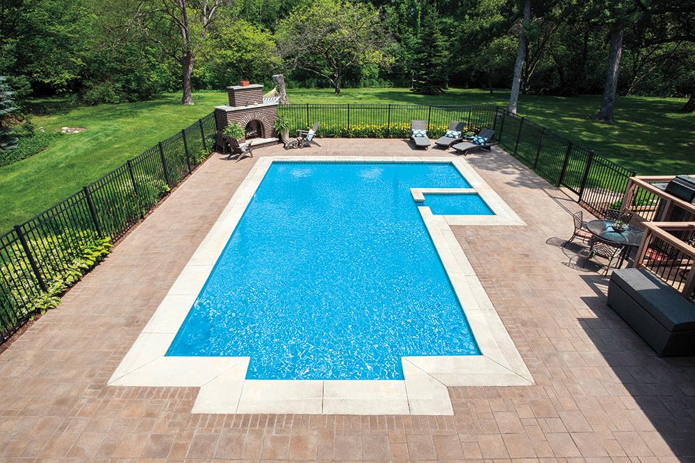 Image of pool designed by Bertrand Landscape